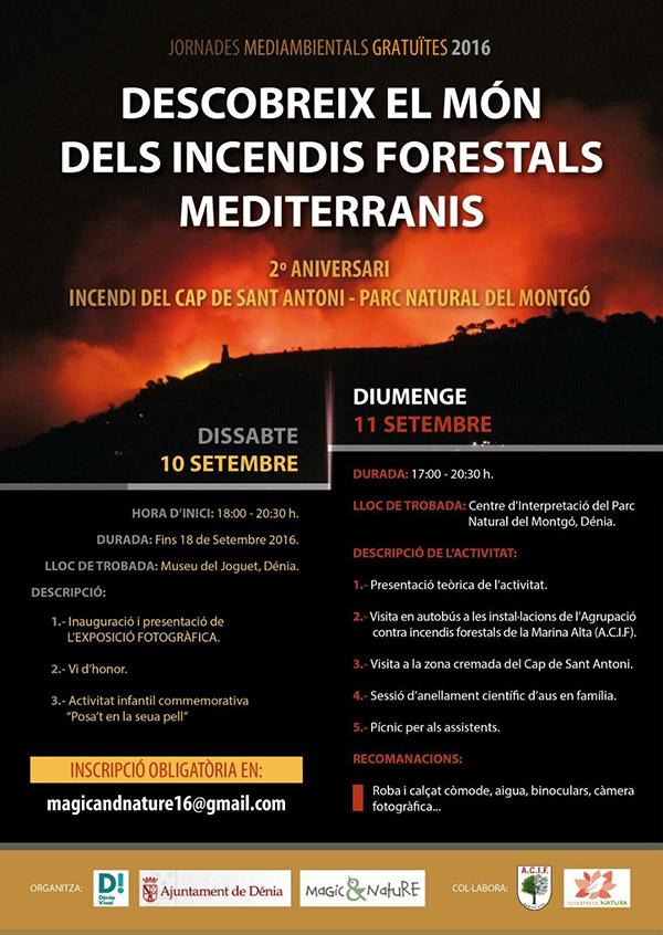 Conmemoración incendios forestales del Montgó